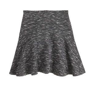 NEW J. Crew plaza fluted skirt in tweed women's 8